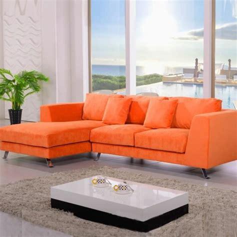 canape d angle orange canapé d 39 angle plumes cine citta orange achat vente