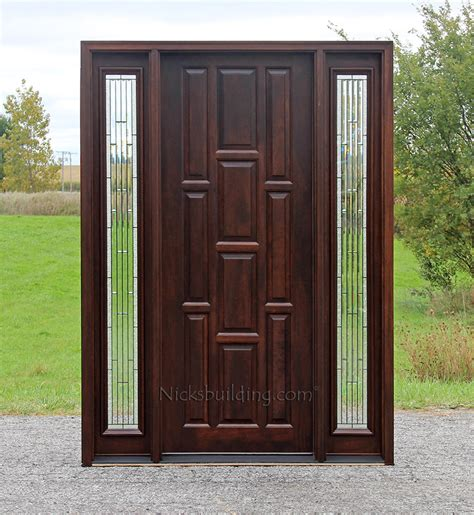 doors with sidelights 10 panel exterior mahogany doors with sidelights