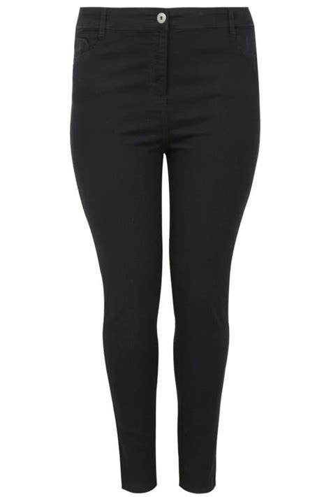 Black Skinny Stretch Ava Jeans Plus Size