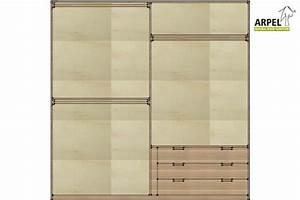 Cassettiera da interno per armadio 240/250 cm