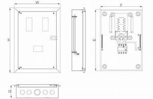 Mdb Flush Metal Disribution Box Din Rail Mcb Mccb Elcb Type