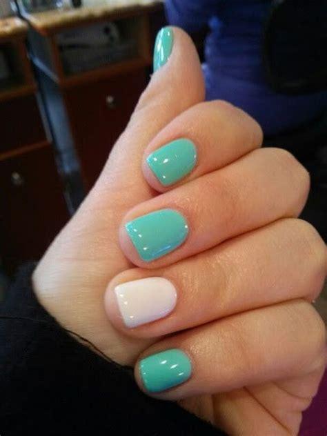 beautiful mint green nails   nails gel nails