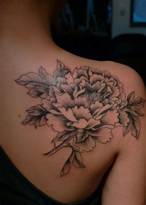 white  black flower tattoo tattoomagz tattoo