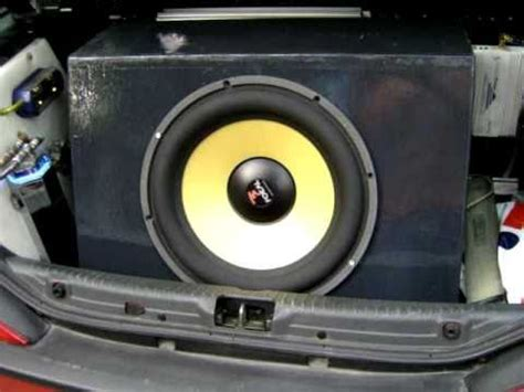 subwoofer auto test subwoofer focal 40 kx test hifi car car audio bass machine