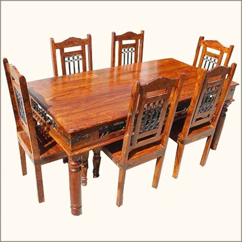 philadelphia maple 7pc dining room table and chair set