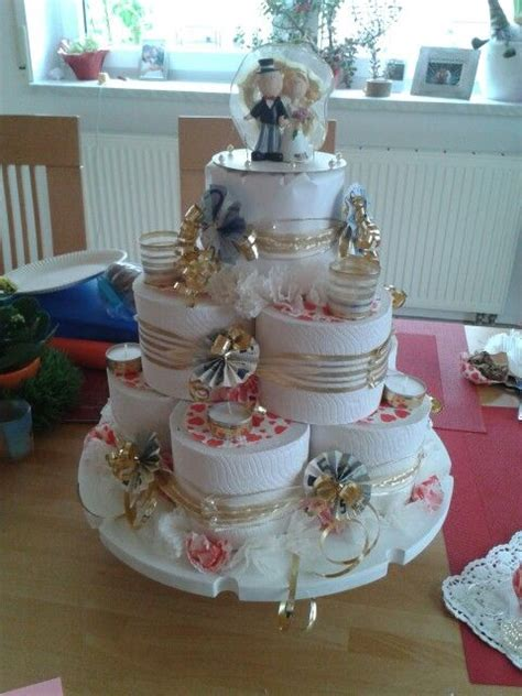 klopapier torte geldgeschenke hochzeit basteln