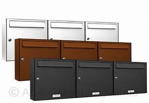 Briefkasten Mit Klingel Aufputz : 3er 3x1 briefkasten anlage einbau oder aufputz in ral farben pulverbeschichtet ebay ~ Sanjose-hotels-ca.com Haus und Dekorationen
