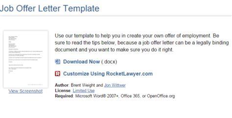 websites    job offer letter template