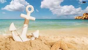 Anchor on the beach wallpaper 1600×900 | Wallpaper 29 HD