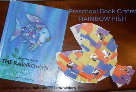 preschool book activities rainbow fish craft saving 579   rainbowfish1