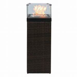 bio ethanol feuersaule feuerschale feuerstelle feuerkorb With feuerstelle garten mit rattan schrank für balkon