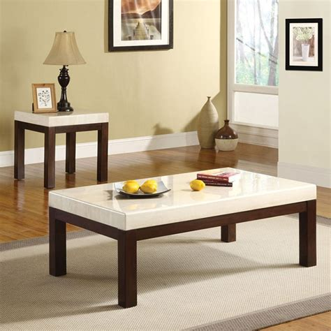 Shop for marble coffee table set online at target. DreamFurniture.com - 17415 Kyle Faux Marble Top 3PC Coffee/End Table Set