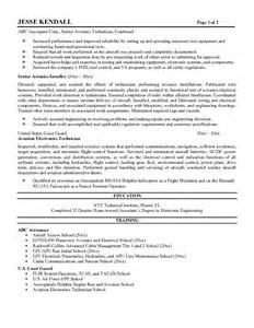 Aircraft Maintenance Technician Resume by Avionics Technician Resume Sle Gallery Creawizard