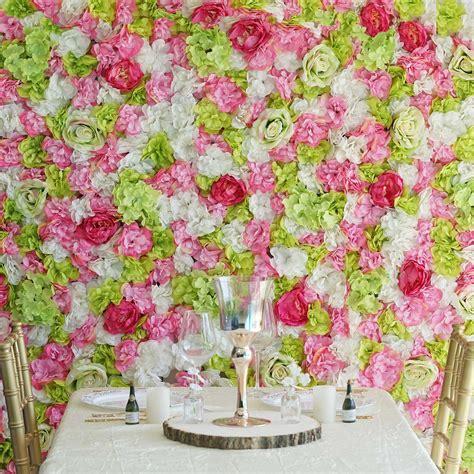 BalsaCircle 4 pcs Assorted Silk Flowers Wall Backdrop