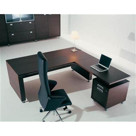 bureau direction bois plano avec retour mac 233 lacour mobilier devis bureaux de direction