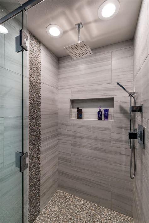walk  shower  pebble tiles hgtv