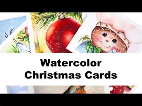 youtube watercolor christmas cards tutorials more cards watercolor painting tutorials