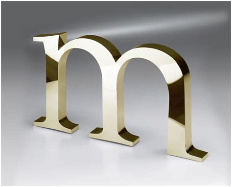 metal letters brushed aluminum office wall letters