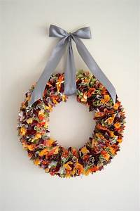 Fall Fabric Scrap Wreath making it with danielle