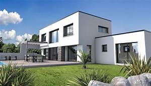 constructeur maison moderne angle vendee 85 depreux With amenagement exterieur maison moderne 4 la maison cubique en 85 photos