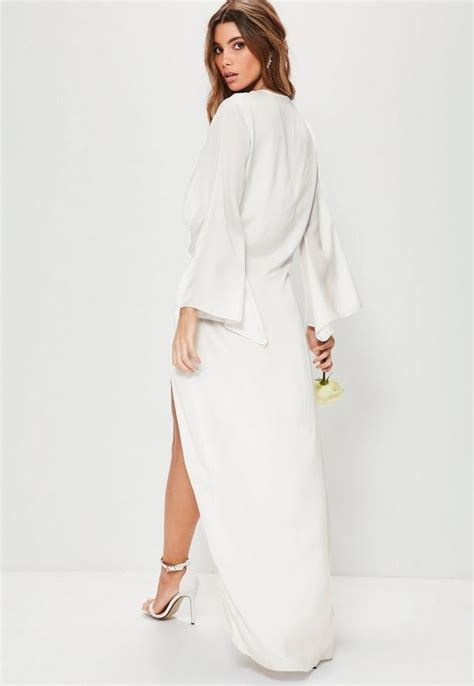 White Kimono Dress - Oasis amor Fashion