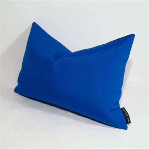 cobalt blue pillow cover decorative blue outdoor pillow