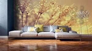 Papier Peint Grosses Fleurs : papiers peints pissenlit mur aux dimensions ~ Dode.kayakingforconservation.com Idées de Décoration
