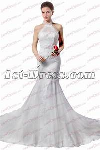 elegant halter sheath lace wedding dress 20171st dresscom With halter sheath wedding dress