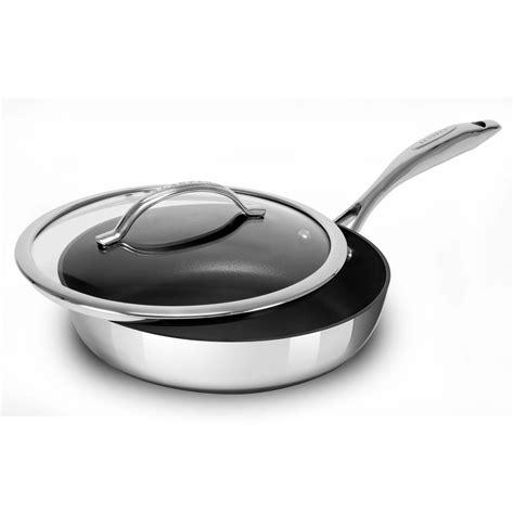 scanpan haptiq stainless steel nonstick cookware set  piece cutlery