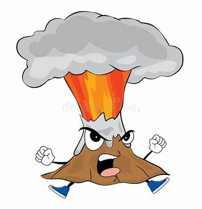Volcano Cartoon Angry Composite Clipart Drawing Illustration