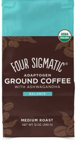 Four sigmatic adaptogen coffee contains key natural ingredients including: Four Sigmatic Adaptogen Coffee With Ashwagandha & Tulsi 340 gram   Tulsi (Holy Basil ...