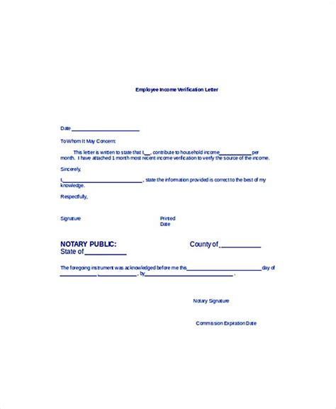 employment verification letter  information  include