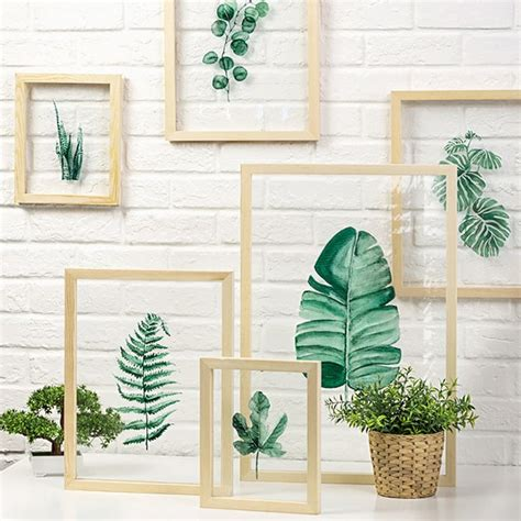 framed leaves wall leaf on glass framed wall apollobox 3512