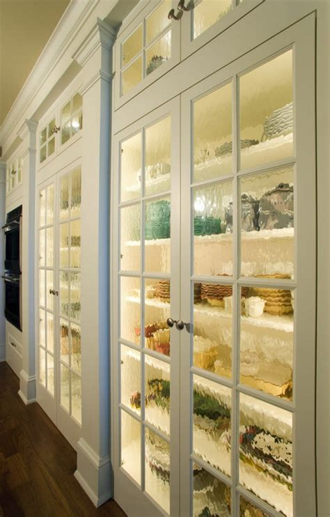 inside kitchen cabinet lighting ideas pantry doors with textured glass decoist