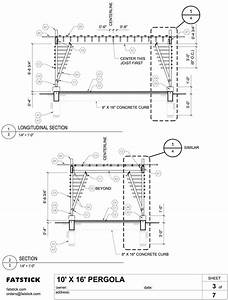 Fatstick Pergola Plans And Parts List  U2013 Fatstick