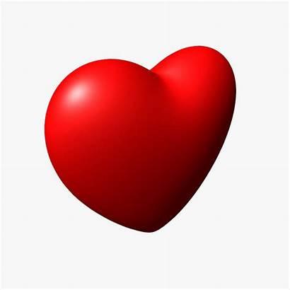 Heart 3d Valentine Clipart Symbol Hearts Models
