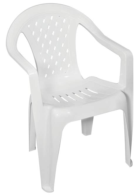 gracious living trellis low back chair white outdoor