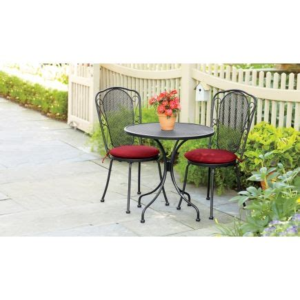 living accents wrought iron 3 bistro set ace