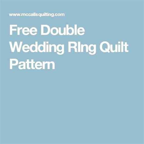 Wedding Ring Quilts Patterns ? co nnect.me
