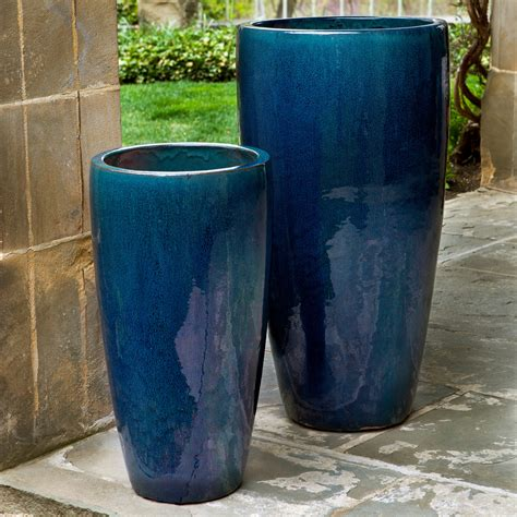 Outdoor Pottery Planters by Cania International Rioja Planter Set Of 2 Planters