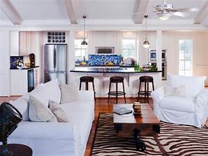 Awesome Beach House Decorating Ideas Using White Sofa Also