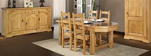 Salle a manger rustique roanne meubles bois massif for Meuble salle À manger avec chaise bois salle a manger