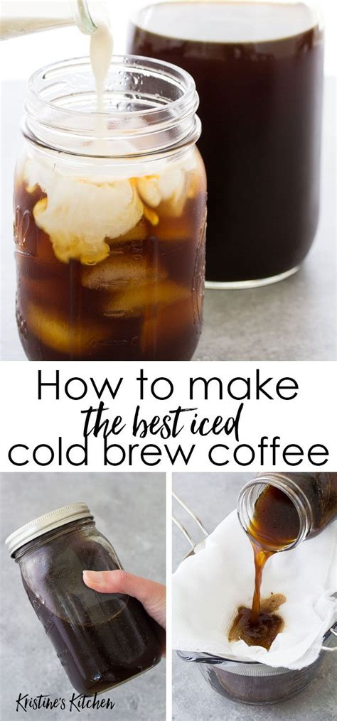 A slow, cold brewing process retains more of the flavor and the caffeine from. How to make cold brew coffee at home. This easy cold brew coffee recipe makes the perfect glass ...