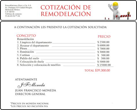 Como Pasar Tus Presentaciones De Templates A Formato Avi by Ejemplo De Presupuesto O Cotizaci 243 N