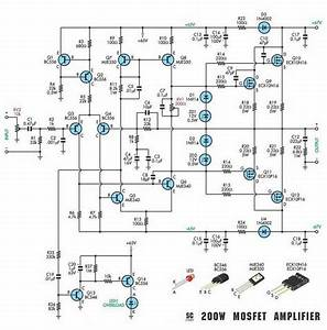 Schematic Diagram  200w Subwoofer Amplifier Circuit
