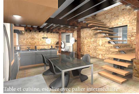 cuisine moderne dans l ancien archi déco design aménagement et réfection d 39 une grange
