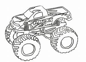 Monster Truck Coloring Pages  Letscoloringpages Com  T