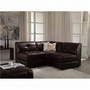 Chateau d39ax u745 leather 3 piece modular sectional sofa for Chateau d ax sectional leather sofa