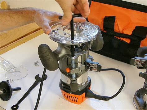 ridgid fixed base router  plunge base review