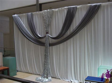 3x6m wedding backdrop curtain with silver sequins swag
